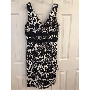 Donna Ricco black and white dress size 8